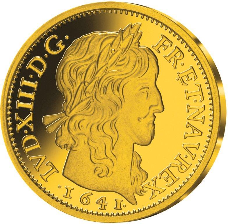 Louis d'or louis XIII a la mèche longue 1641