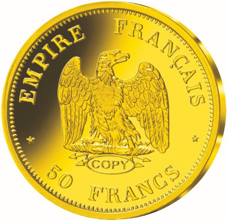 essai 50 francs napoleon III Tete Nue 1854 vs