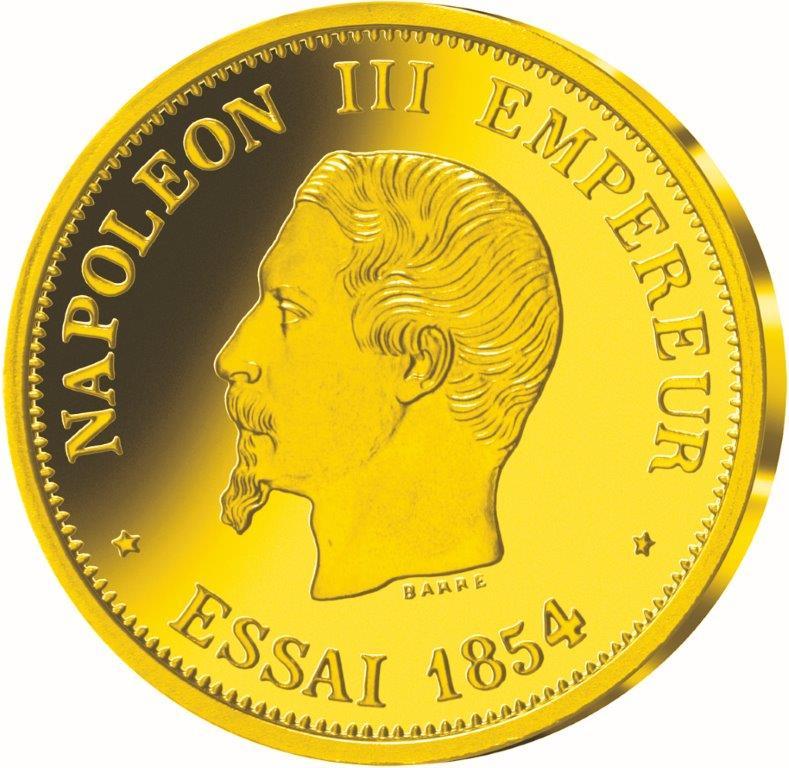 essai 50 francs napoleon III Tete Nue 1854 rs